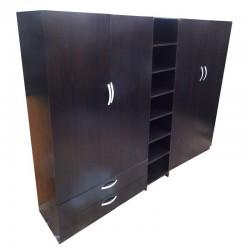 4 Door wardrobe with 6 drawers and 2 shoe-rack